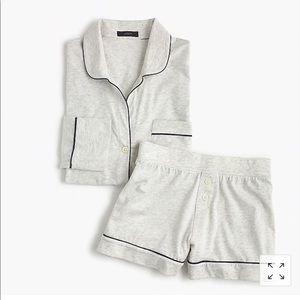 J.Crew Knit Pajama Set Heather Grey Cotton XXL NWT